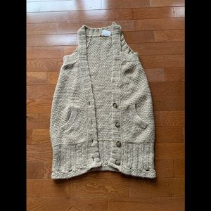 💥Free People Cable Knit Duster Vest 💥